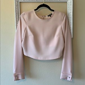 INTERMIX High/Low Blouse with French Cuffs